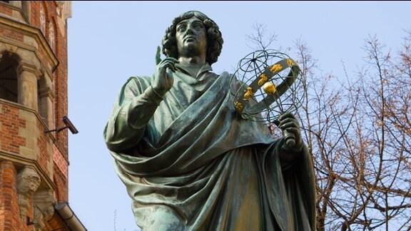 Nikolaus Kopernikus Denkmal in Torun, Polen
