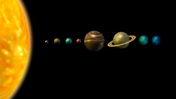 Das Sonnensystem als Grafik.
