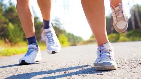 Fußarbeit beim Jogging