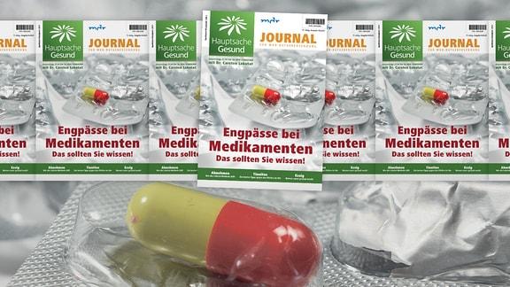 Titelbild des Hauptsache-Gesund-Journals mit Carsten Lekutat, der Getreide in den Händen hält