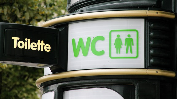 Eine öffentliche Toilette.