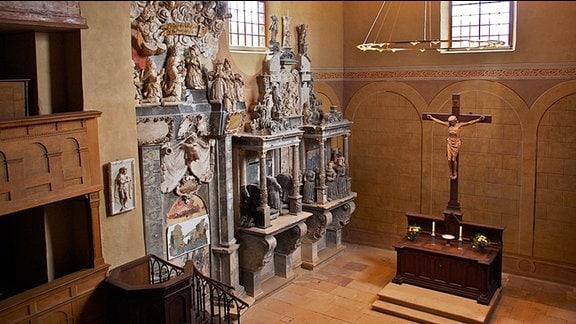 Epitaph und Altar der Schlosskirche Goseck