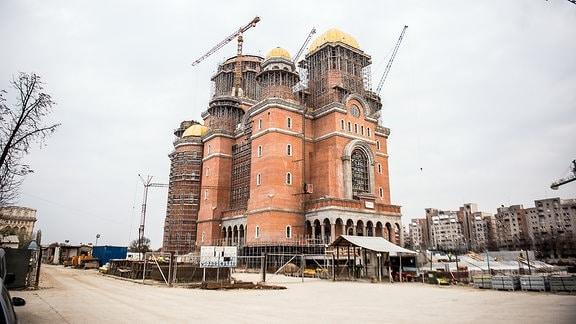 Kathedrale der Erlösung des Volkes in Bukarest Nördliche Außenansicht