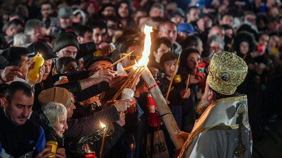 Orthodoxe Osterfeierlichkeiten in Bukarest