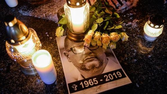 Gedenken an getöteten Danziger Oberbürgermeister Pawel Adamowicz