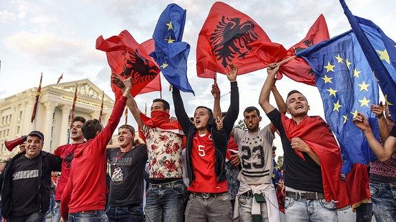 Albanische Proteste in Skopje