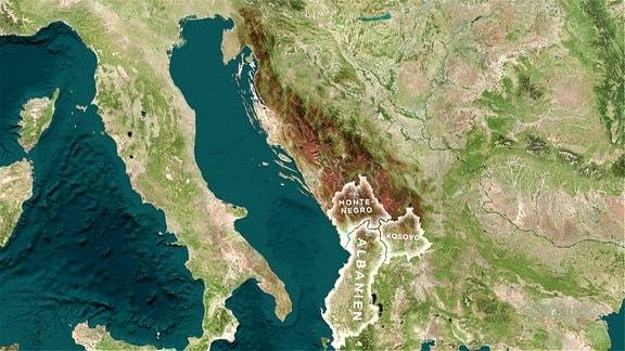 Landschaft in Albanien