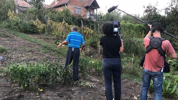 Garten in einen Dorf in Siebenbürgen (Rumänien)
