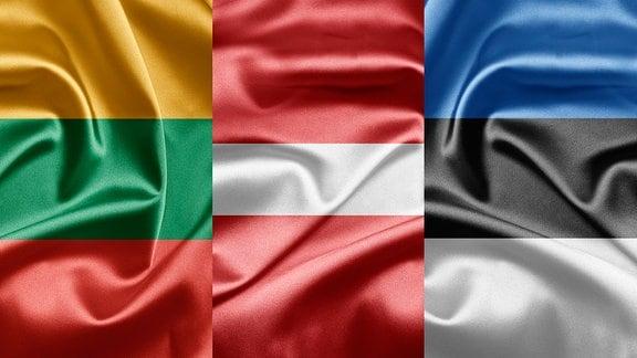 Baltische Flaggen - Litauen, Lettland, Estland