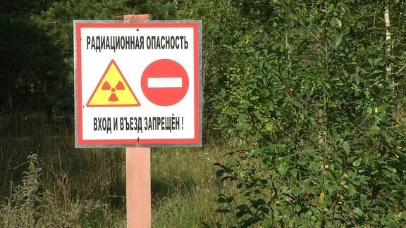 Schild: Radioaktive Gefahr