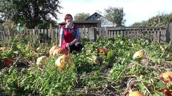 Tatjana Pantjuk im Garten