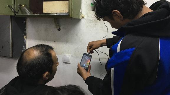 Menschen, Mobiltelefon
