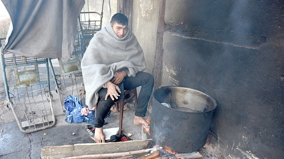 Flüchtling aus Afghanistan in Belgrad