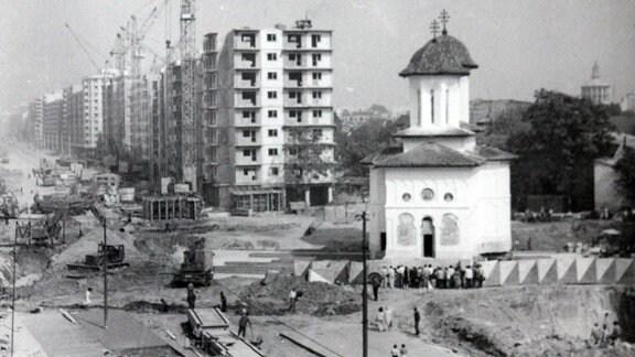 """Kirche des Entschlafens der Gottesmutter """"Olari"""" in Bukarest, Bild um 1982"""