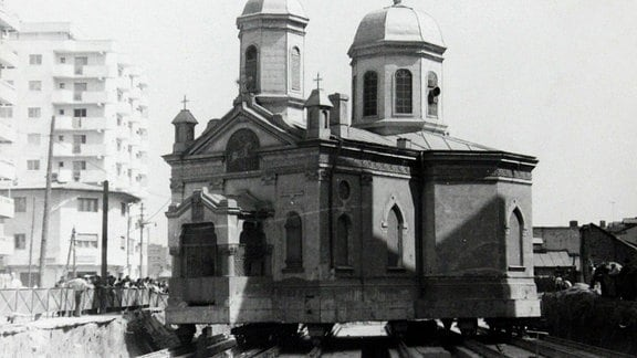 "Sankt-Georgs-Kirche ""Capra"" in Bukarest, Bild um 1985"