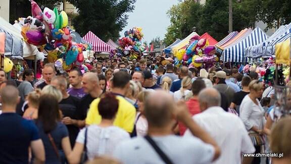 Festiwalbesucher beim Polnischen Oktoberfest