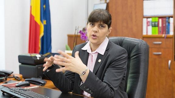 Laura Kövesi, Chefin der rumänischen Sonderermittlungsbehörde gegen Korruption DNA, in Bukarest im Juni 2017