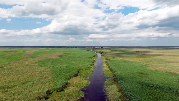 Der Magearu-Kanal im Nordosten des Donaudeltas