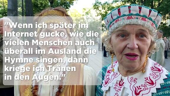 alte Dame in Vilnius