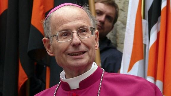 Altbischof Joachim Wanke in Erfurt