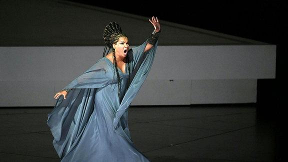 Die russische Sopranistin Anna Netrebko in der Rolle der Aida