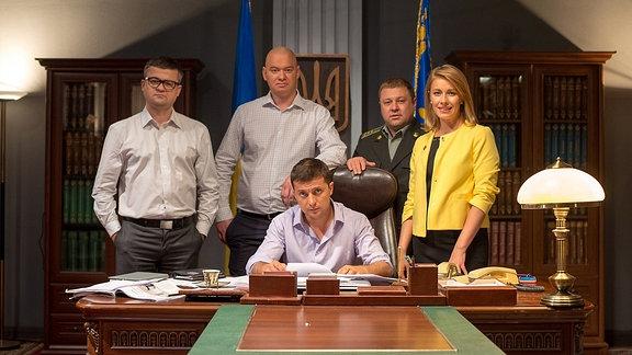 Ausschnitt aus ukrainischer Fernsehserie Sluga narodu (Der Diener des Volkes)