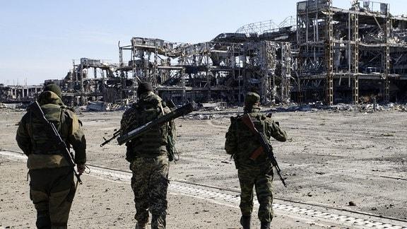 Zerstörter Flughafen Donezk