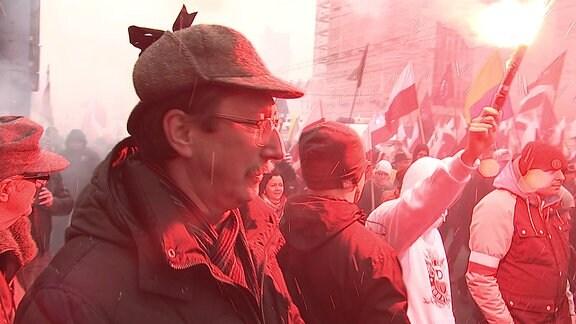 Nationalistenaufmarsch zum Unabhängigkeitstag Polens in Warschau am 11.11.2016