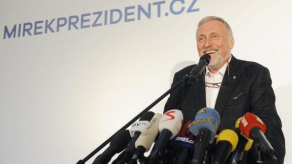 Mirek Topolanek, tschechischer Präsidentschaftskandidat