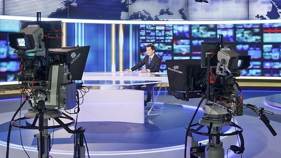 TV Studio von TVN 24