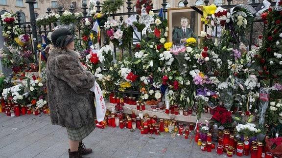 Trauer um verstorbenen rumänischen Ex-König Mihai