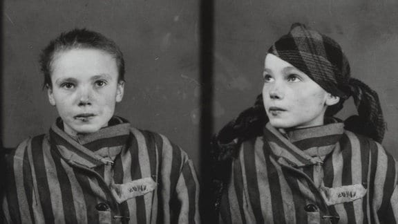 Porträtfotos der 1943 im Vernichtungslager Auschwitz ermordeten 14-jährigen Czeslawa Kwoka.