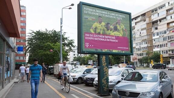 Plakat zur Fußball-EM 2016 Rumänien