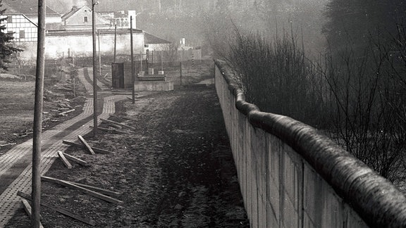 Grenzanlagen der innerdeutschen Grenze in Hirschberg - Thüringen