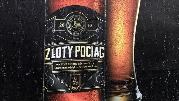 Werbeplakat für Bier