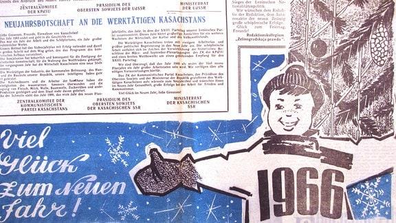 Ausgabe der deutschen Zeitung 1966 damals unter dem Namen Freundschaft