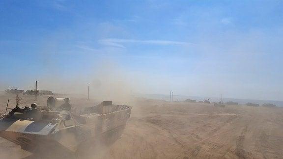 Ein russisches Militärmanöver auf der Krim