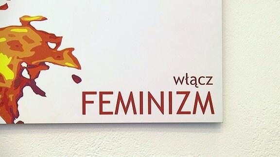 Ein Polnisches Wort auf einer Tafel