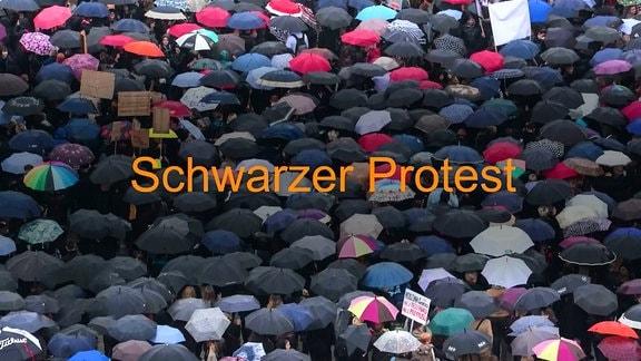 Schwarzer Protest