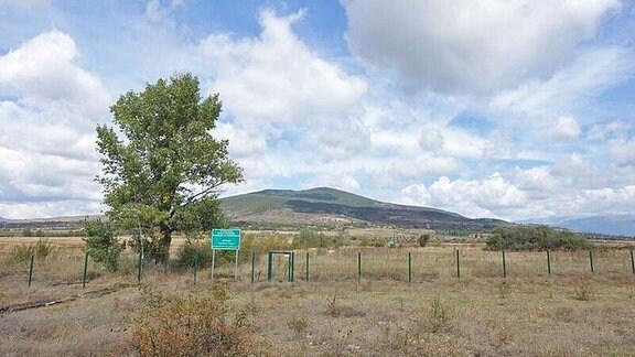 Die georgische Grenze zu den abtrünnigen Regionen Abchasien und Südossetien