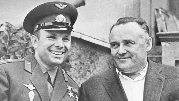 Juri Gagarin und Sergej Koroljow