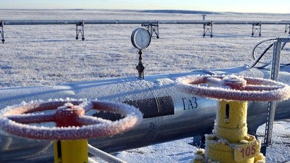 Eine russische Gas-Pipeline
