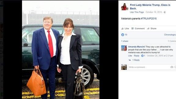 Ihre Eltern leben noch immer in Sevnica, sind jedoch sehr häufig in den New Yorker Trump Towers anzutreffen. Melaniaas Vater und Donald Trump sollen sich im Charakter ähnlich sein- und auch eine gewisse optische Ähnlichkeit ist nicht von der Hand zu weisen- findet das Netz.
