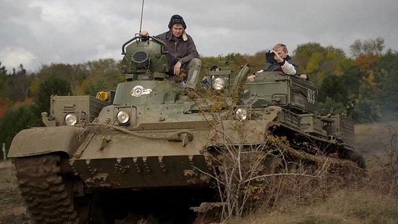 Ein russischer Panzer