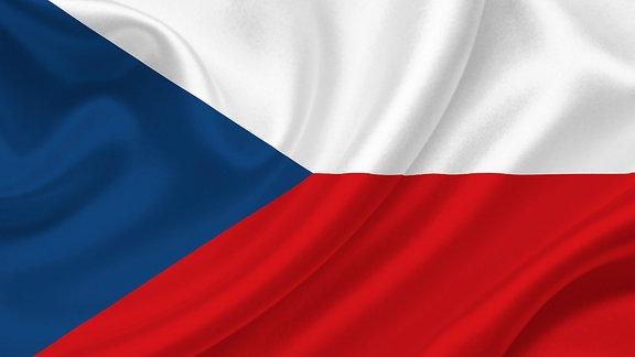 Die Flagge Tschechiens