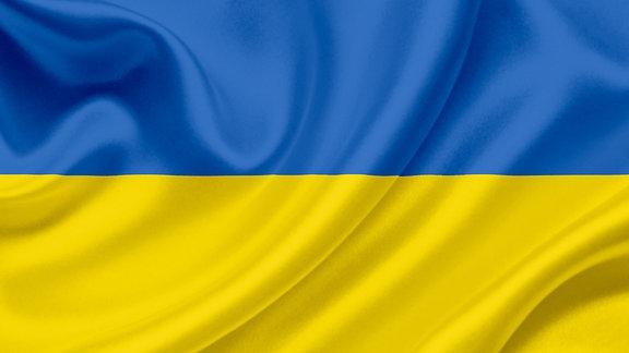 Die Flagge der Ukraine