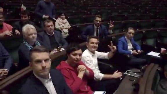 Besetztes Parlament Polen