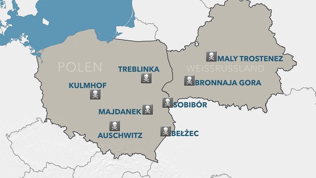 vernichtungslager karte Deutsche Vernichtungslager in Polen und Weißrussland   MDR.DE