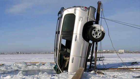 Autounfall am Baikalsee