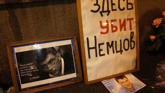 Nemzow-Gedenken Moskau
